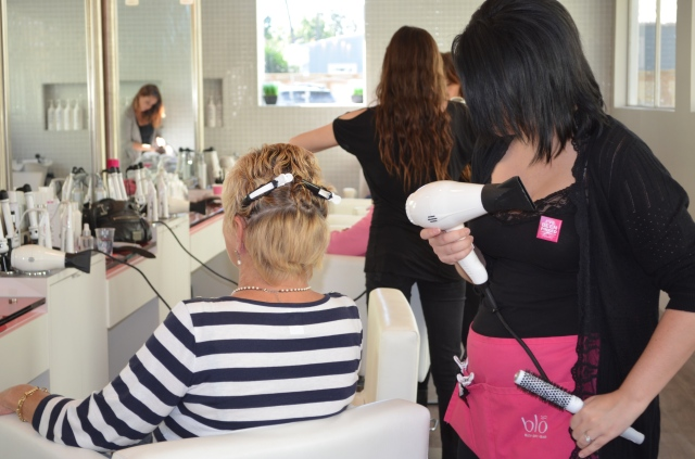 The Blo stylists hard at work!