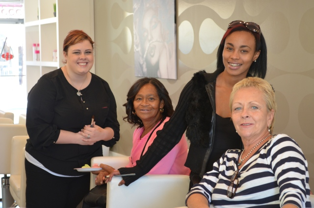 All smiles at our Pink and Pampered event!